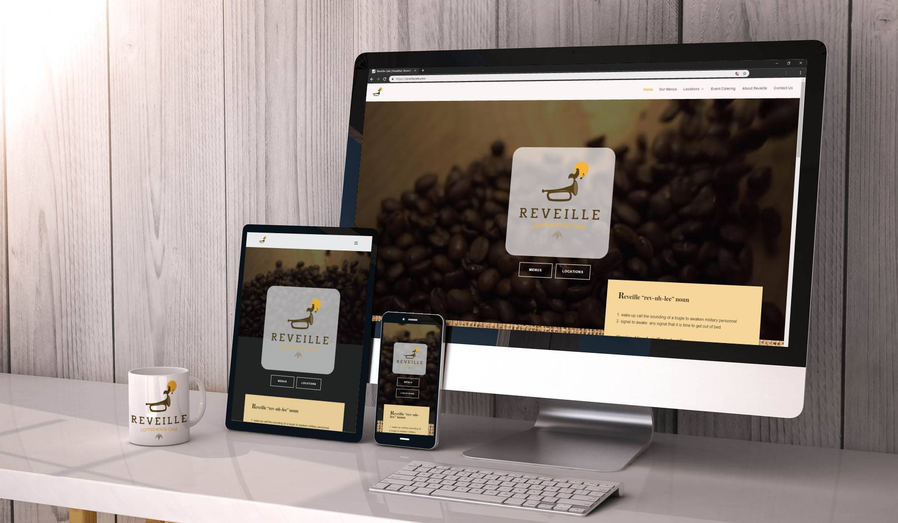 Reveille Cafe - New Website Design and Layout